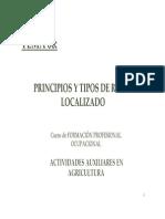 Principios y Tipos de Riego Localizado