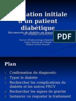 Evaluation Initiale d'Un Patient Diabétique