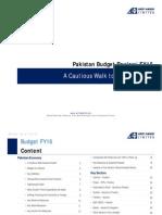 Pakistan Budget Review FY16