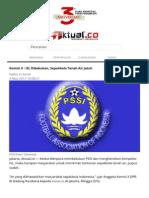ISL Dibekukan, Sepakbola Tanah Air Jatuh-m.aktual.co