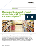 Genpact Consumer Good analytics maximizes the Impact of Point of sale
