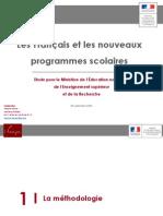 Sondage IFOP sur la réforme des programmes