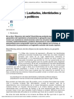 """David Harvey- Lealtades, Identidades y Compromisos Políticos — Manu Robles Arangiz Fundazioa"""""""