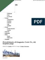 Petrolchimico Di Augusta - Corte UE - Chi Inquina Paga