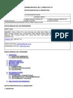 Programa Inglés 2 (B1) 2015-2016