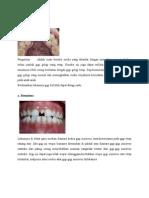 kelainan bentuk, jumlah dan warna gigi