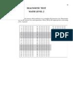 Maths Bubble Sheet