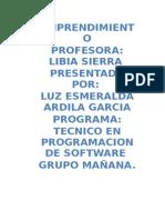 Emprendimiento Luz Esmeralda Ardila