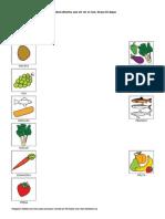 Asociaciones Alimentos Para Unir Con Un Trazo Amaya Ariz Argaya