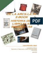 Historia de lo libro e de las bibliotecas