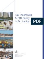 Tax Incentives & FDI Policy in Sri Lanka