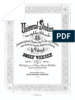 Werner Universal Studies for Cello Op.17 Book 1