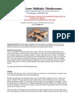 Shiitake Mushroom Growing Instructions