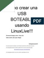 Como Crear Una USB BOTEABLE Usando LinuxLive