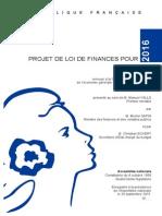 Le projet de loi de finances pour 2016