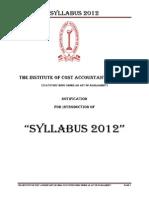 Icmai.in Upload Institute Notifications Notification-SYLLABUS-2012