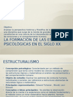 Escuelas Psicológicas en El Siglo XX