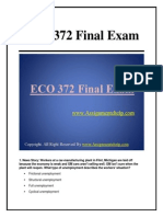 ECO 372 Final Exam Latest Online HomeWork Help Free