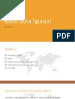 Modul 2 -Basis Data Spasial