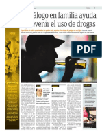 El Diálogo en Familia Ayuda a Prevenir El Uso de Drogas