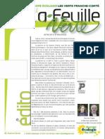 La Feuille Verte n°210 - septembre 2015