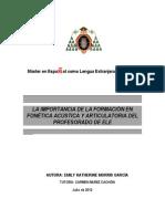 TFM_EmilyKMorris Importancia Formacion Fonetica Acustica y Articulatoria Profesora ELE