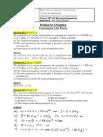 EET416 Problem Set #3 Solution Transmission Line Theory