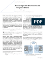 Intuitive way of achieving secure data transfer and storage mechanism
