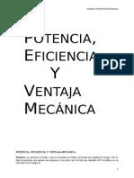 Potencia y Eficiencia Mecanica