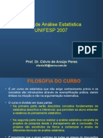 Curso de Analise Estatistica_UNIFESP_2007