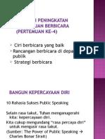 4 Strategi Peningkatan Kemampuan Berbicara