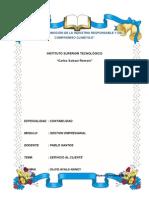 Servicio Al Cliente. Informe Docx