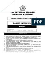 Latihan Soal Un Sd Mi Bahasa Indonesia Paket 1
