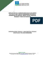 ESPECIFICACIONES - SECCIONADORES 115kV