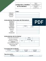 Formato Investigación y Analisis de Accidentes MCL 2015