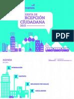 Encuesta de percepción ciudadana Bogotá Cómo Vamos 2015