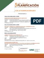 Programa Semana Planificacion 2015 y Convocatoria 61 Asamblea
