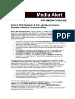 Federal RICO Violations & MA Legislation Concerns Exposed in Federal Foreclosure Case