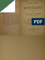 Bonilla y San Martín, Adolfo. Concepto y Teoria Del Derecho