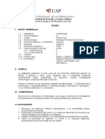 Syllabus Criminologia Derecho Uap