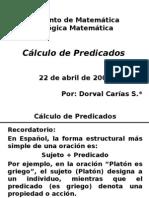 Cálculo de Predicados.