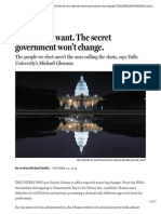 Vote All You Want. the Secret Government Won't Change. - Ideas - The Boston Globe