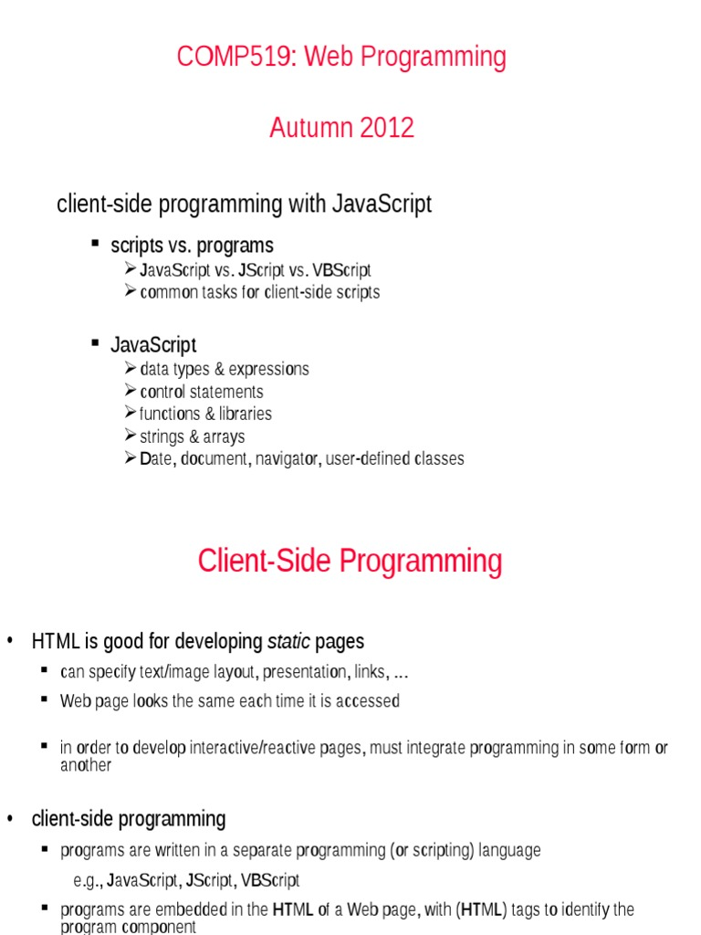 All Java Script | Dynamic Web Page | Java Script