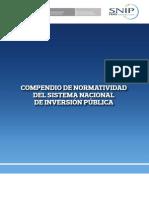 Compendio Normatividad Del SNIP