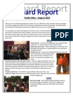 May - August 2015 Newsletter