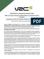 Comunicato_Campionato ESports Di WRC
