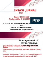 Journal Management of Hypertensive Emergencies
