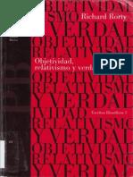 Rorty Objetividad Relativismo y Verdad Book Bene