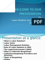 Presentation on Labour Realation and Collective
