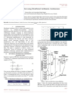 Design of FIR Filter Using Distributed Arithmetic Architecture